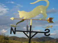 Roy Reycraft, hand made brass weather vanes, sundials clocks, nameplates, plaques and other items in McGregor